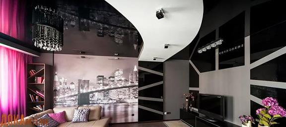 Лучшие двухуровневые натяжные потолки под ключ